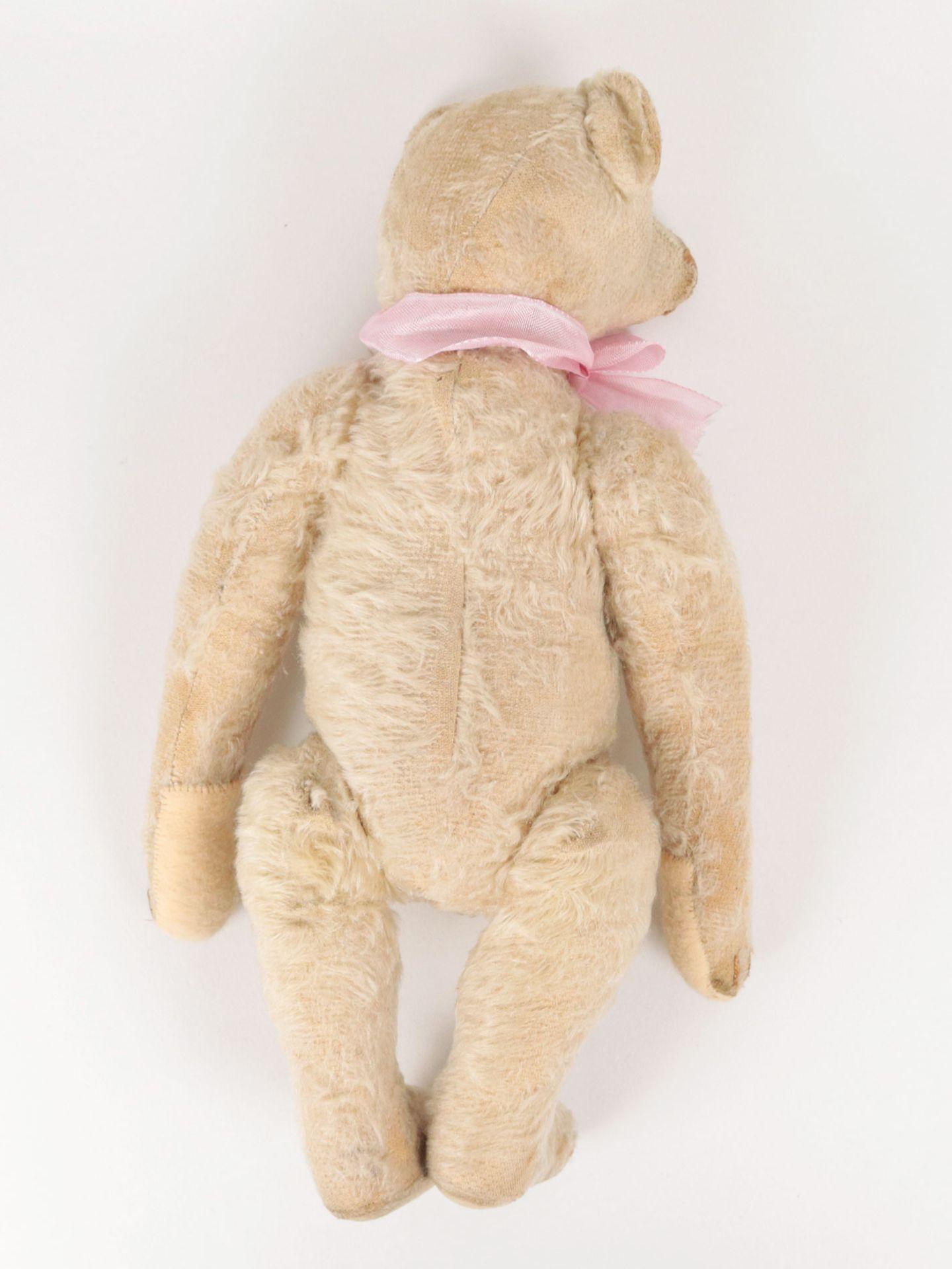 Steiff – Teddybär um 1930, Knopf im Ohr (mit heruntergezogenem 'f'), heller Mohairb - Image 6 of 7