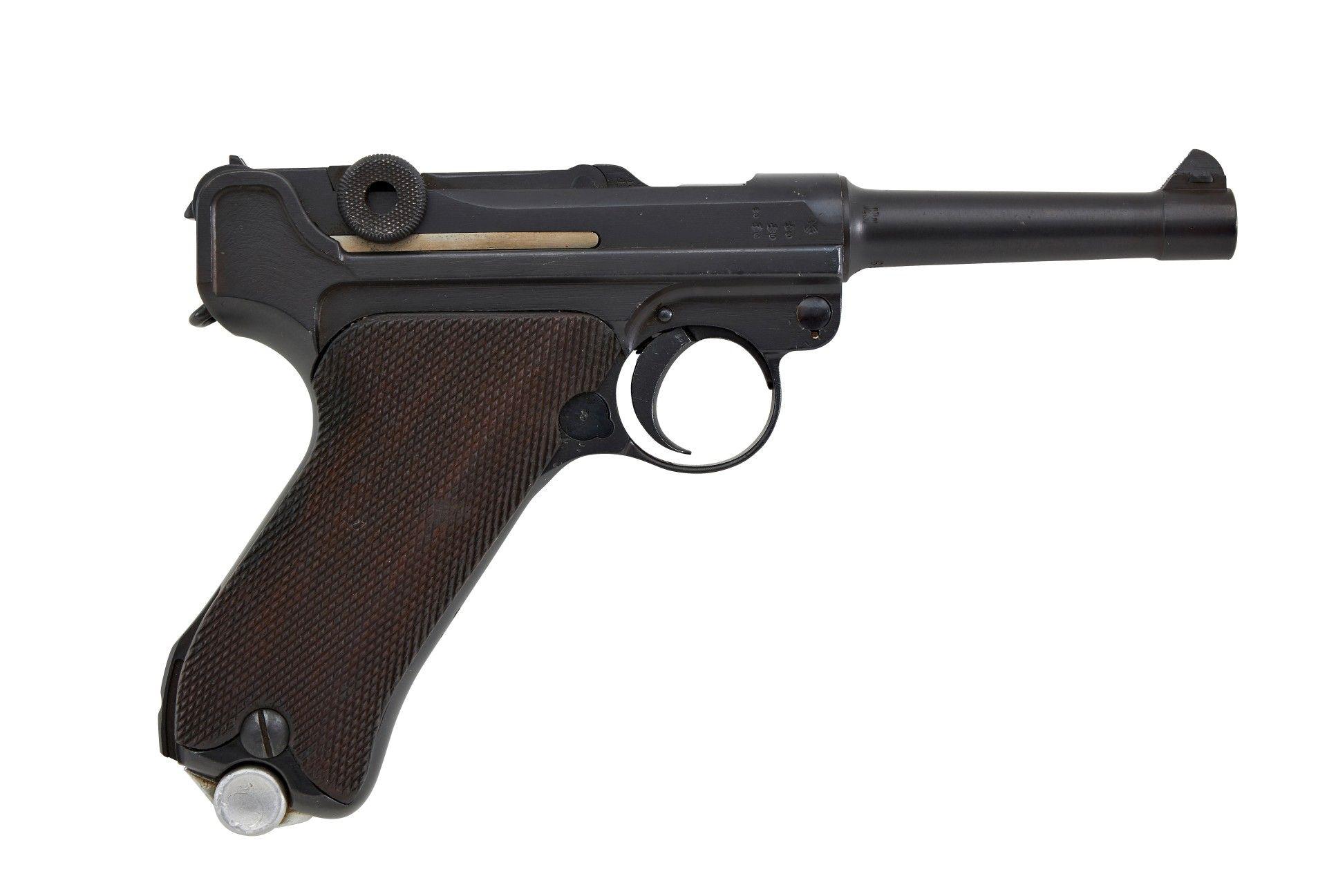 Halbautomatische Pistole Mod.: P. 08 Herst.: SIMSON & Co. SUHL Baujahr: ohne Angabe S.Nr.: 6480 ... - Image 2 of 4