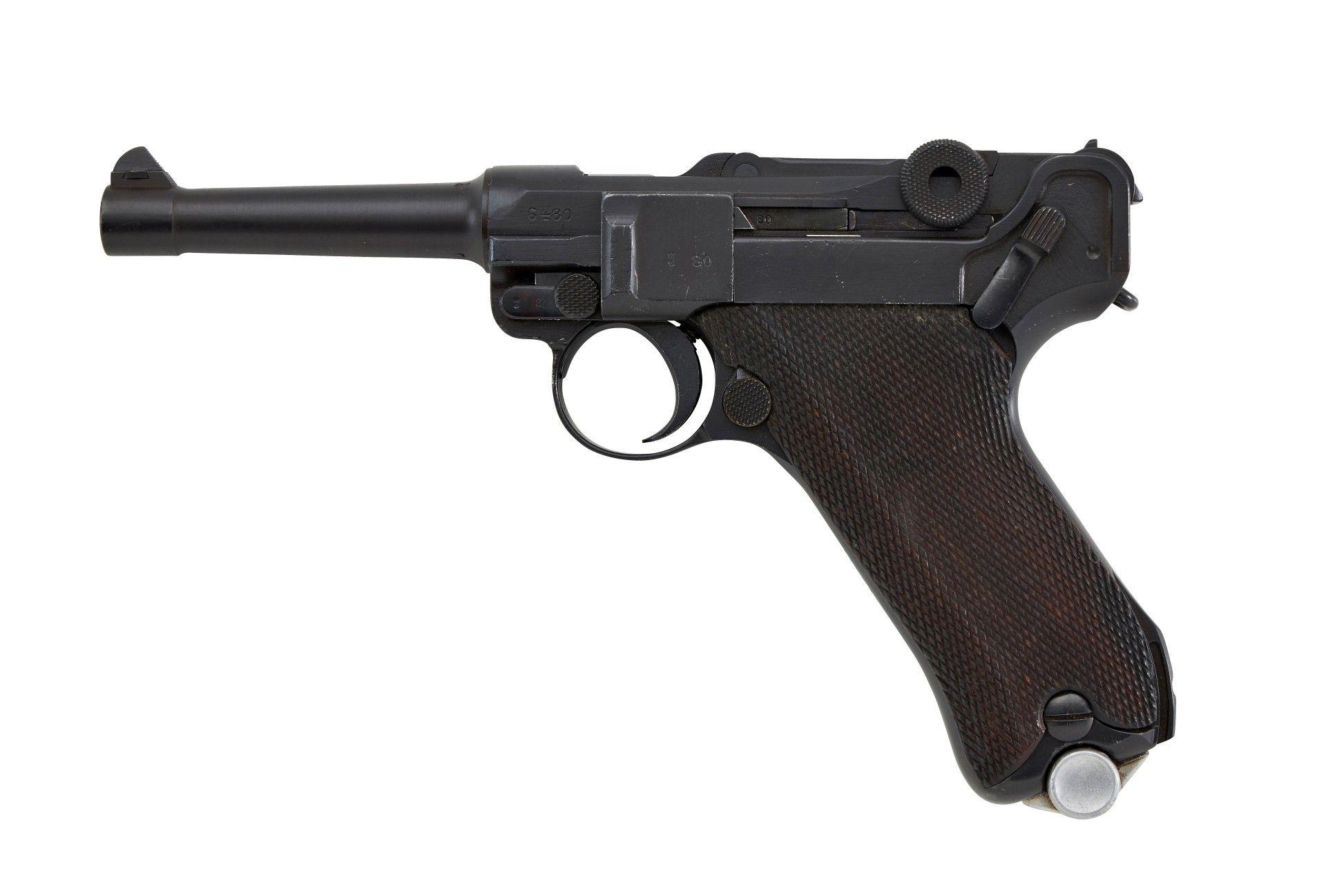 Halbautomatische Pistole Mod.: P. 08 Herst.: SIMSON & Co. SUHL Baujahr: ohne Angabe S.Nr.: 6480 ...