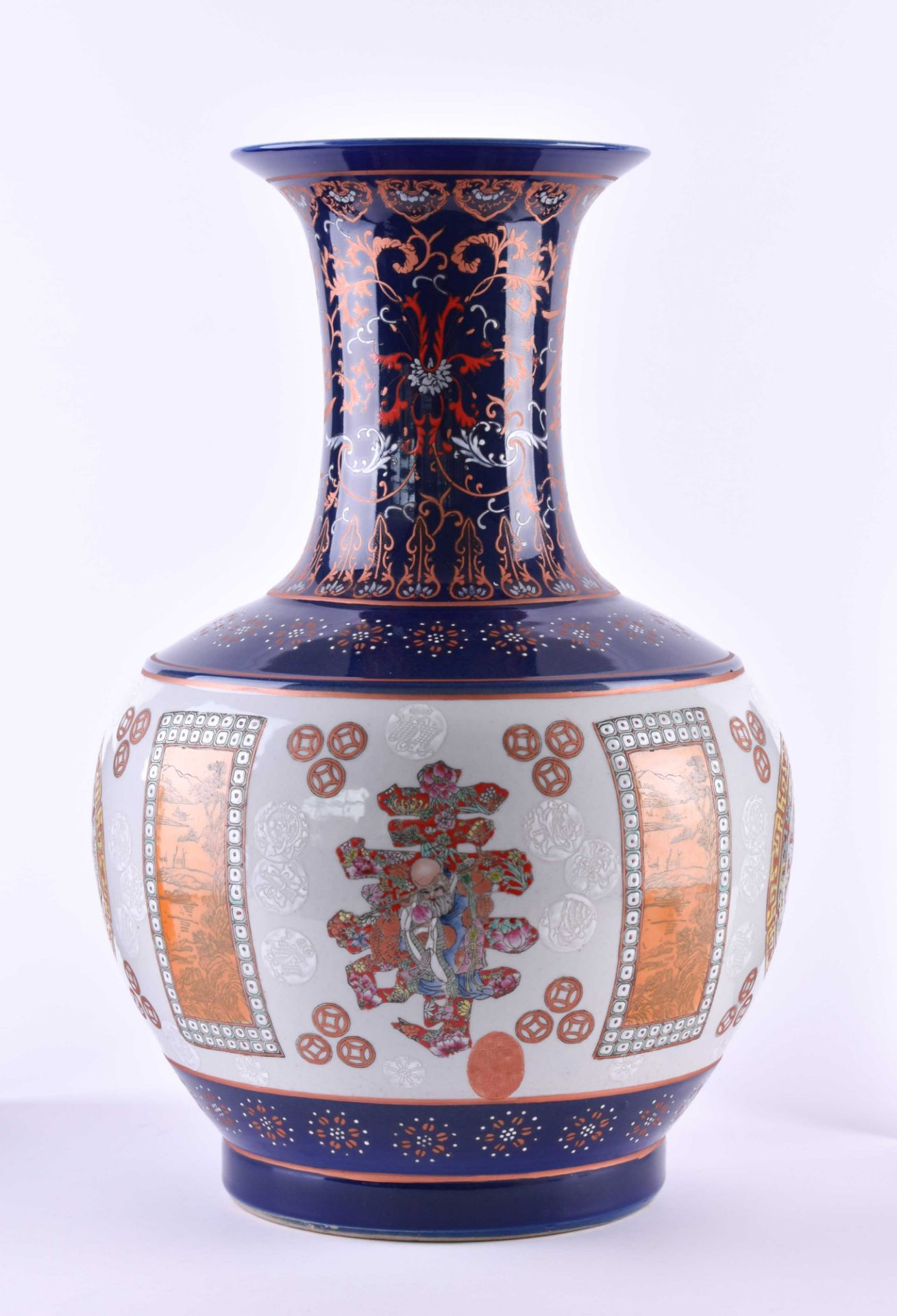 Floor vase China - Image 2 of 7