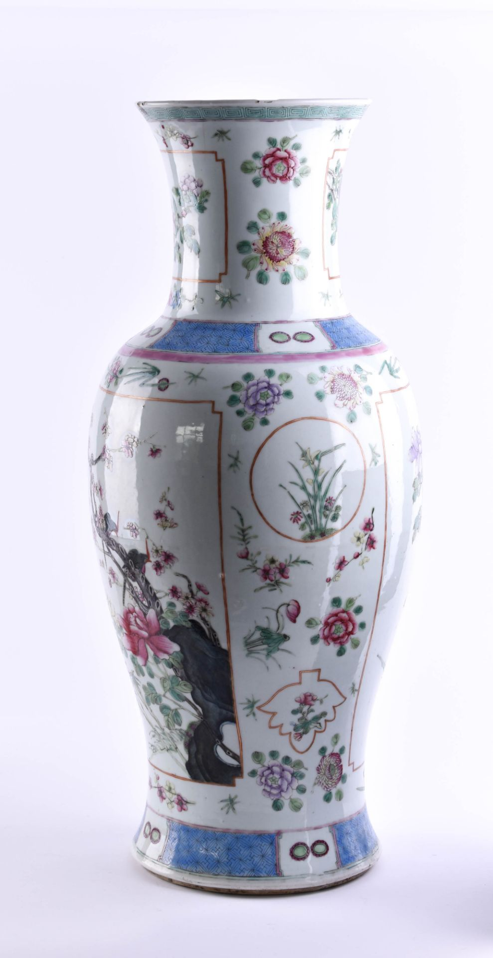 Vase China Qing period - Image 3 of 7