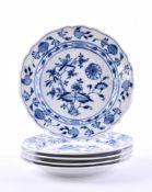 5 plates Meissen