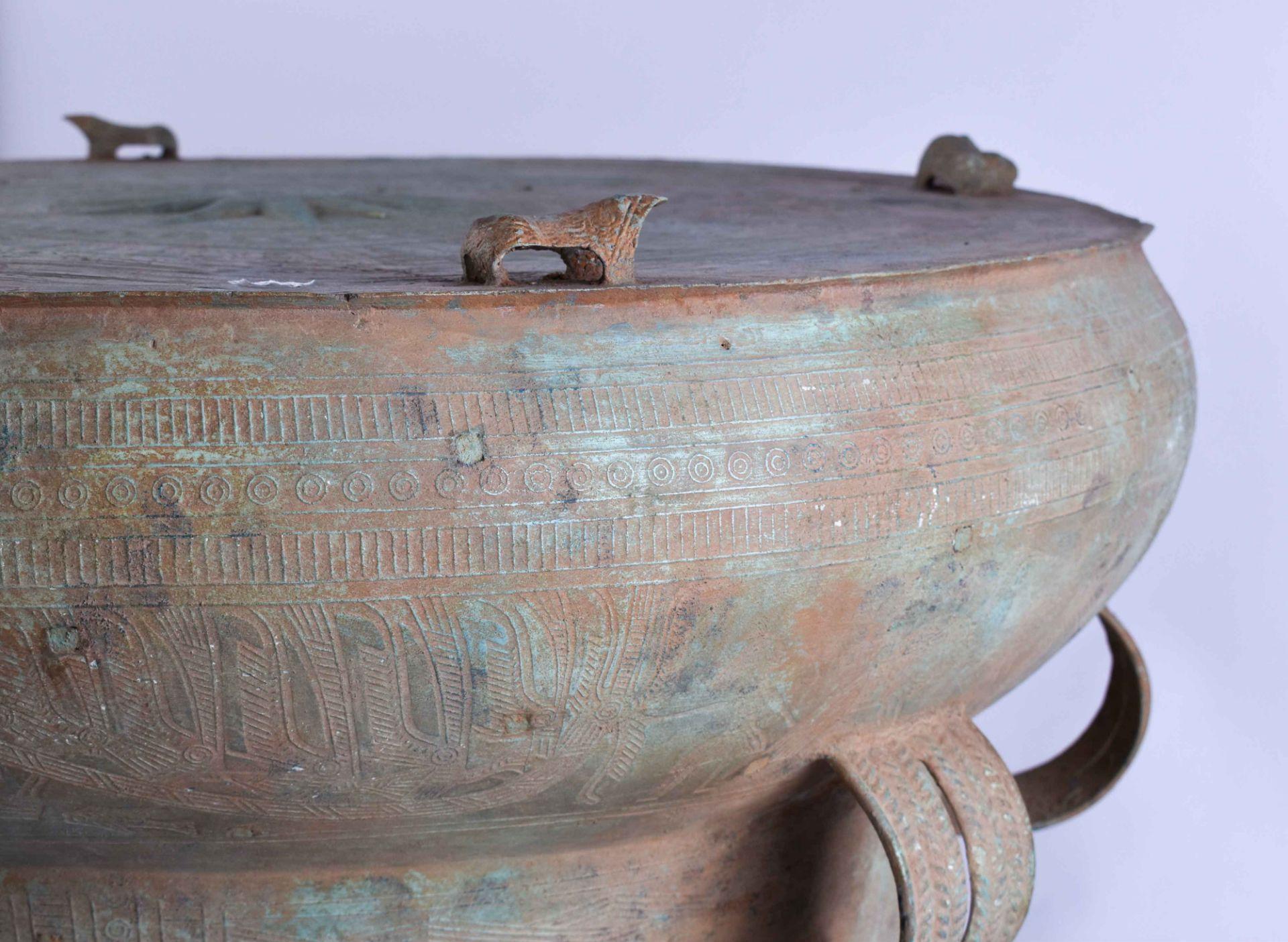 Ritual bronze drum Vietnam Dong-Son period - Image 7 of 9