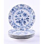 5 cake plates Meissen