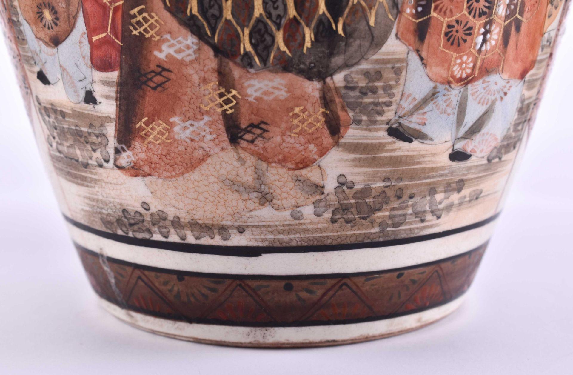 Satsuma vase Japan Meiji period - Image 5 of 6