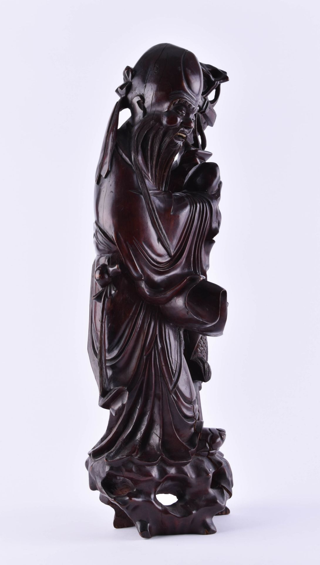Wooden figure China - Image 2 of 6