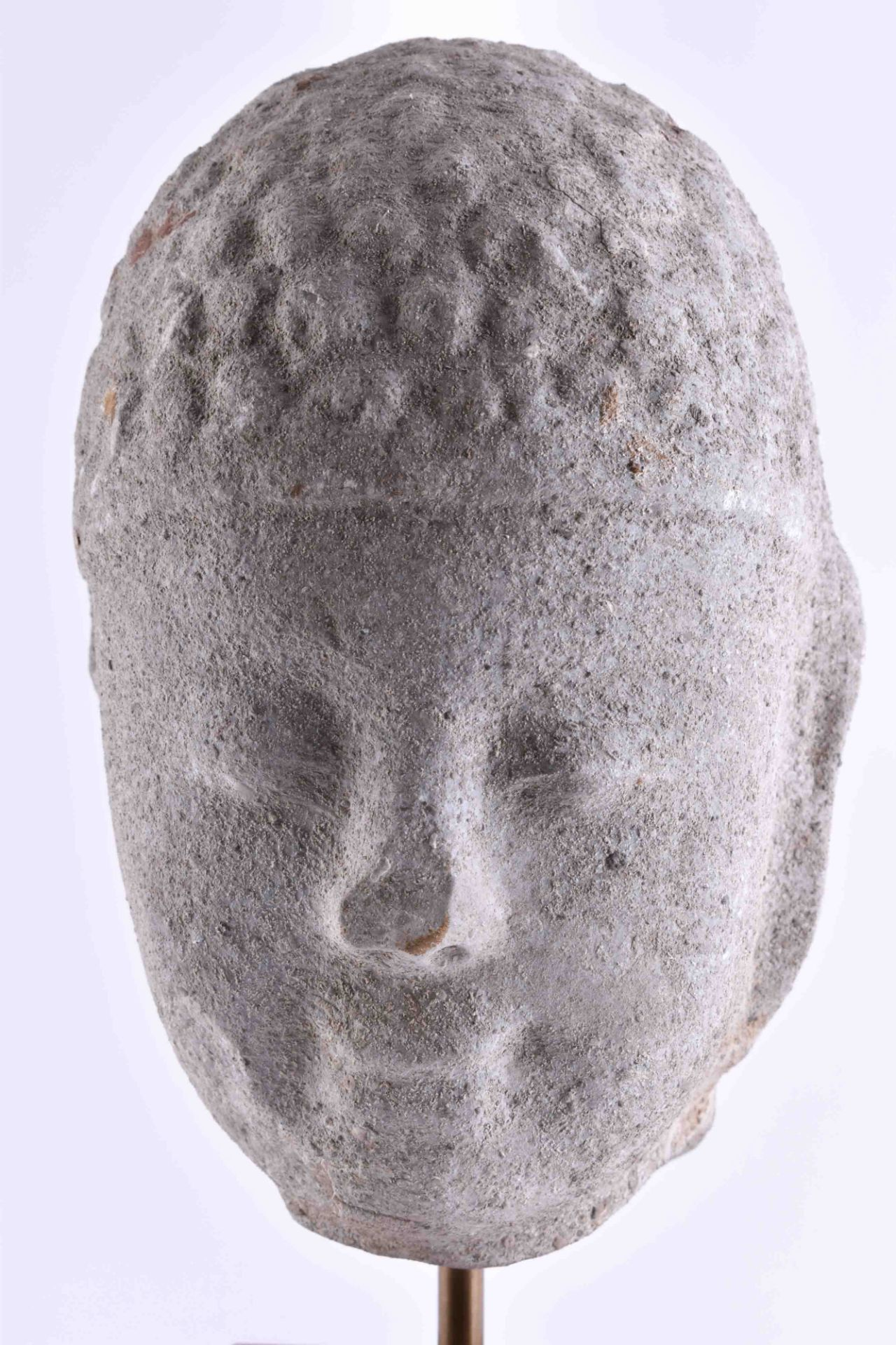 Buddha head China end of the Tang dynasty 10th century - Image 2 of 5
