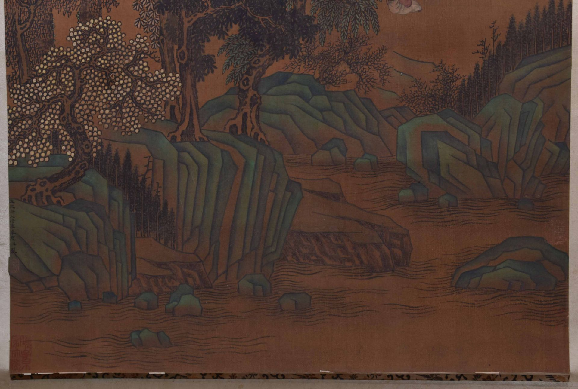 Scroll painting China Qing dynasty - Image 4 of 5