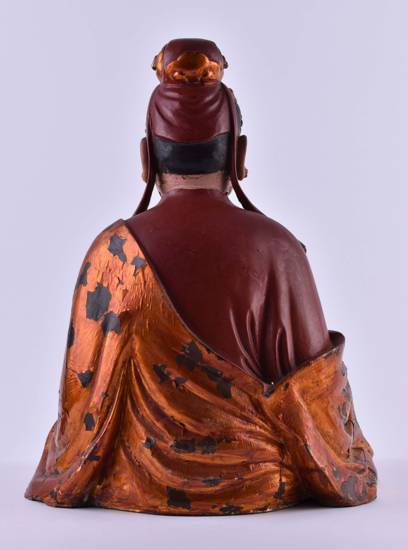 title: Temple figure Vietnam / South China Qing dynasty 18th / 19th century - Image 7 of 7
