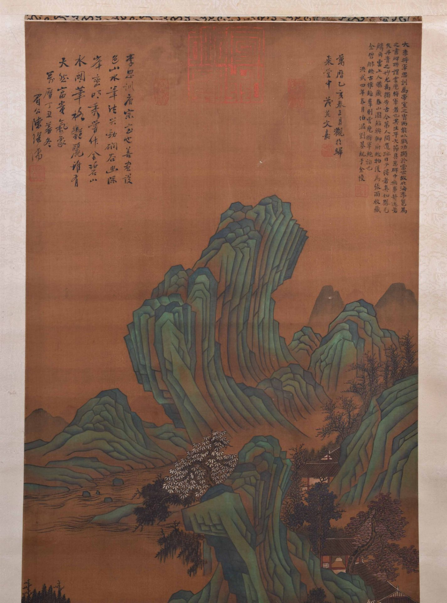 Scroll painting China Qing dynasty - Image 2 of 5