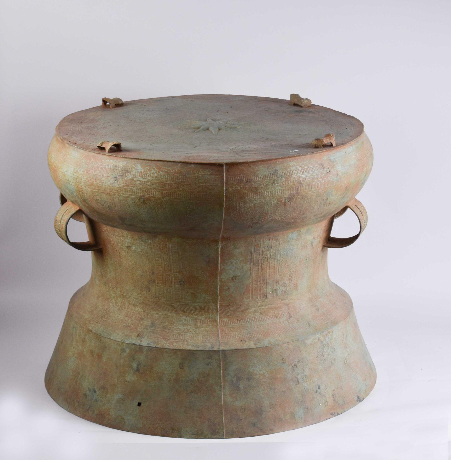 Ritual bronze drum Vietnam Dong-Son period - Image 2 of 9