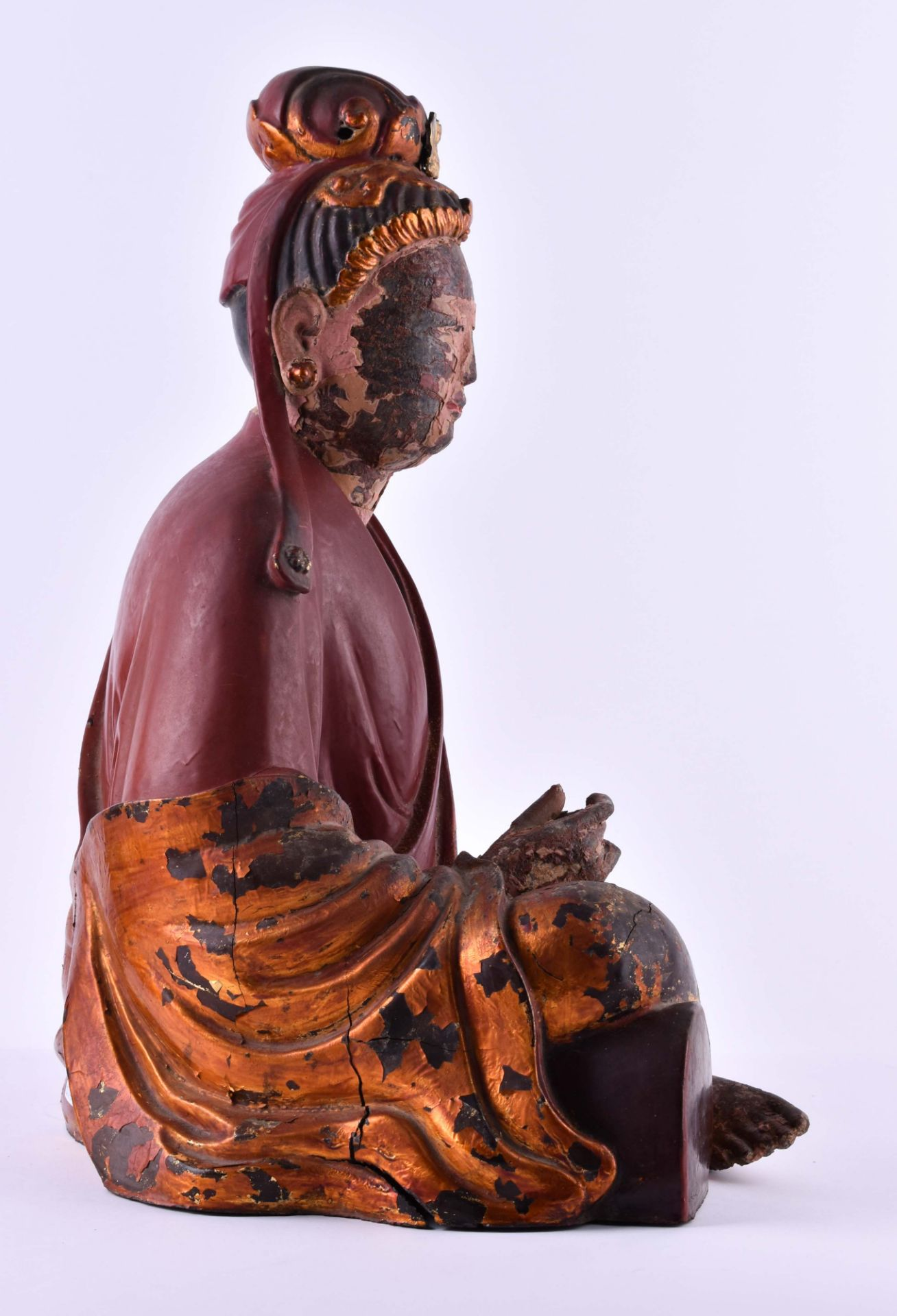 title: Temple figure Vietnam / South China Qing dynasty 18th / 19th century - Image 6 of 7