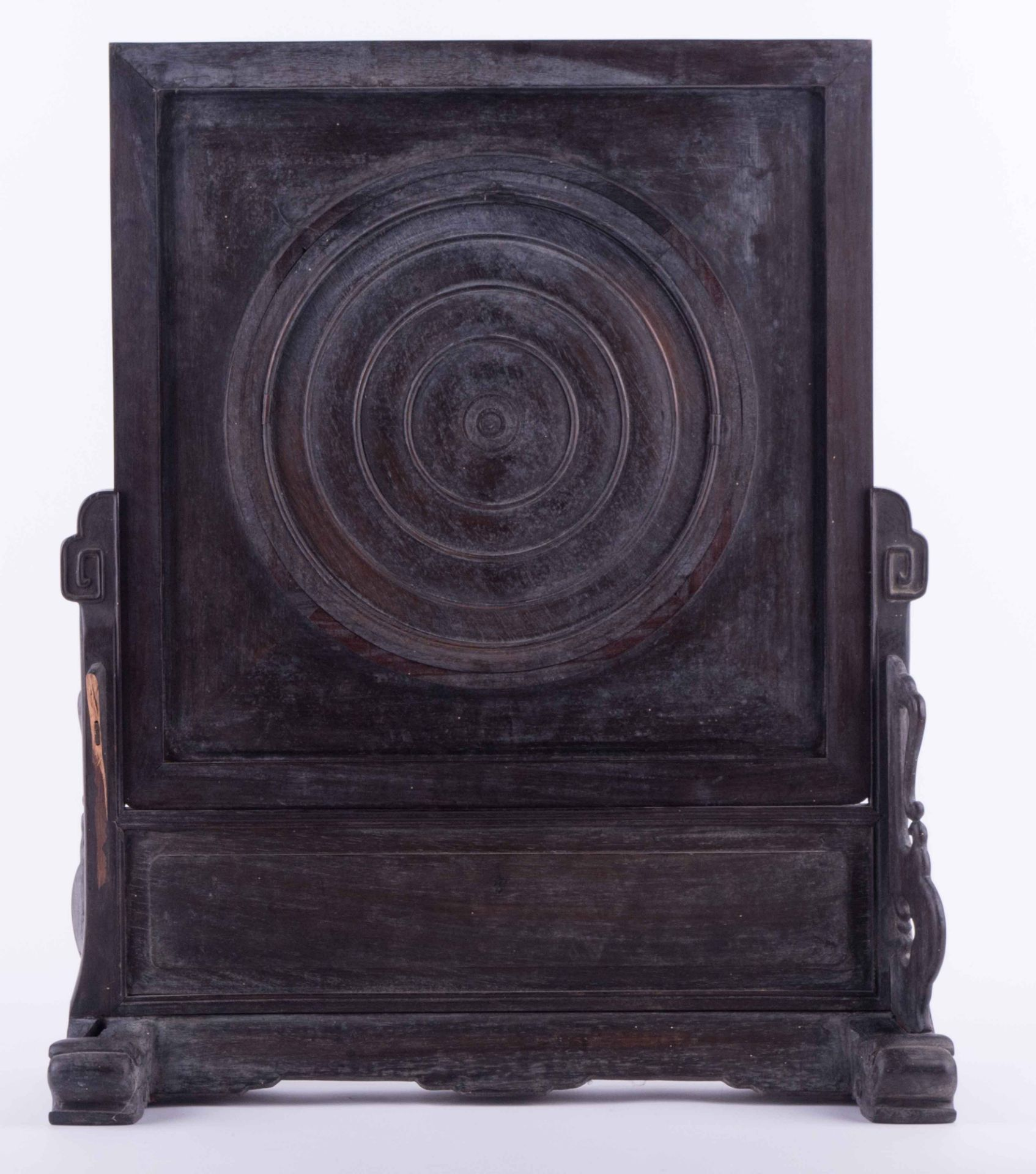 Screen, China Qing dynasty 19th century - Image 5 of 6