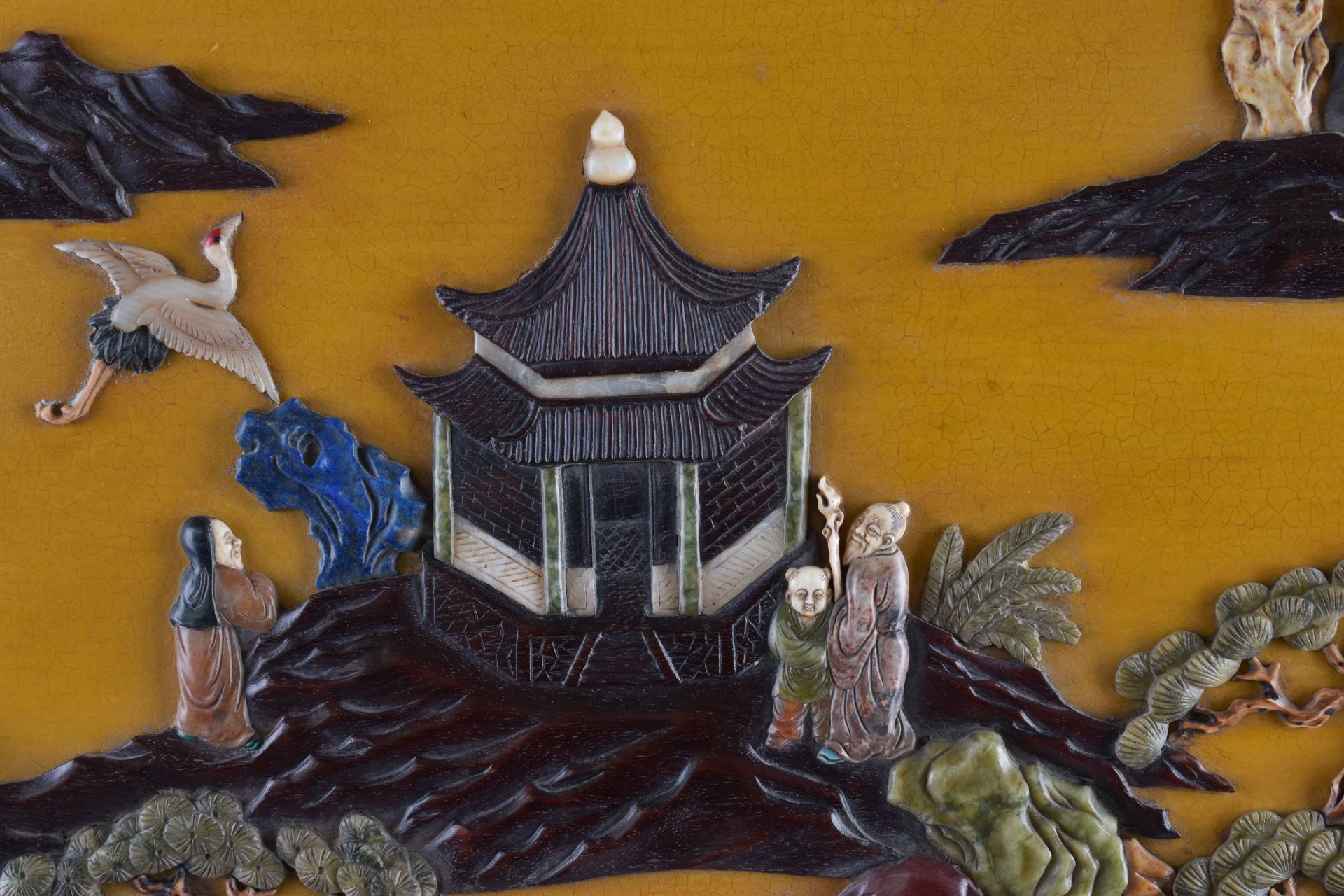 Imposing courtly screen China Qing period, Guangxù? - Image 4 of 9