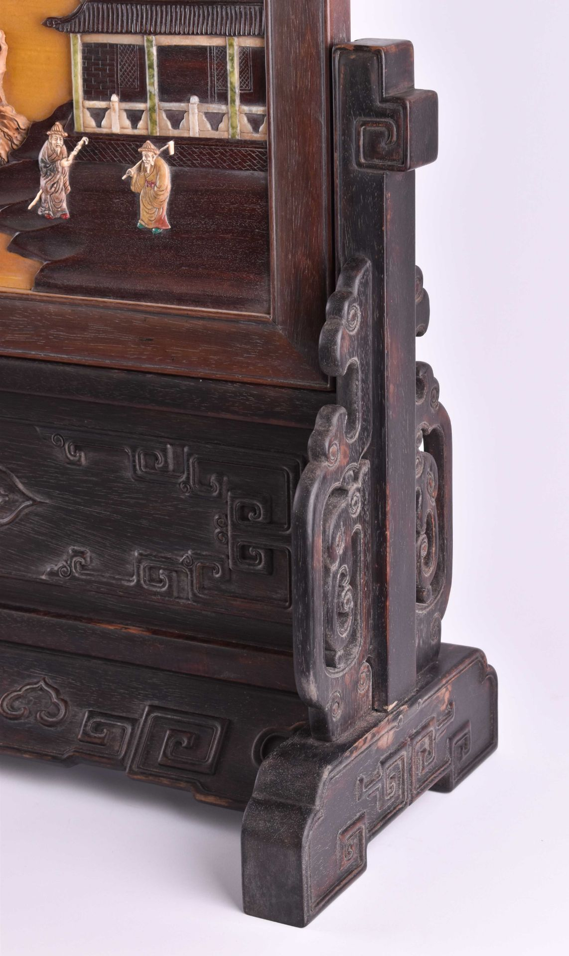 Imposing courtly screen China Qing period, Guangxù? - Image 9 of 9