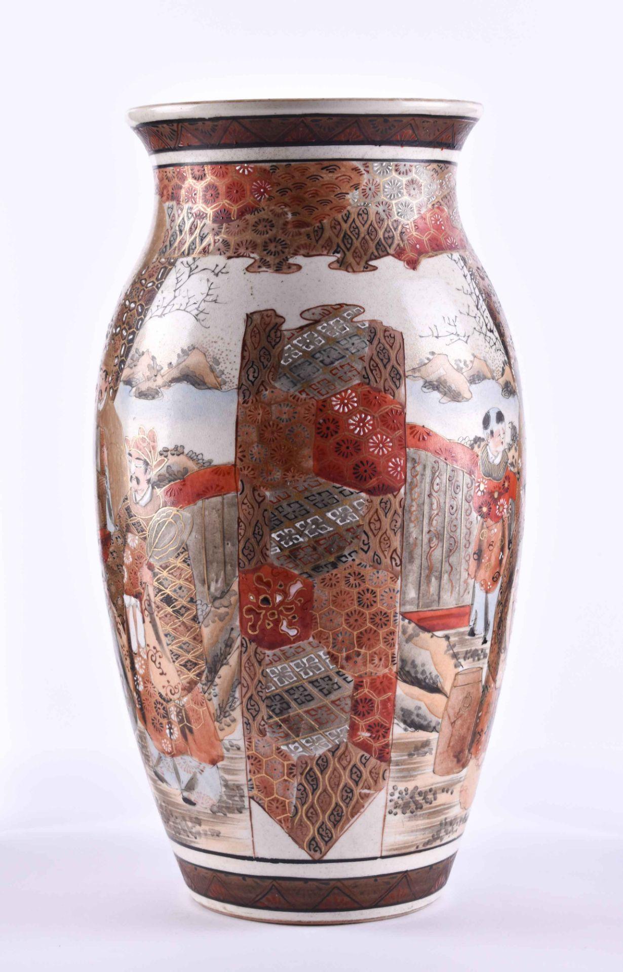 Satsuma vase Japan Meiji period - Image 2 of 6