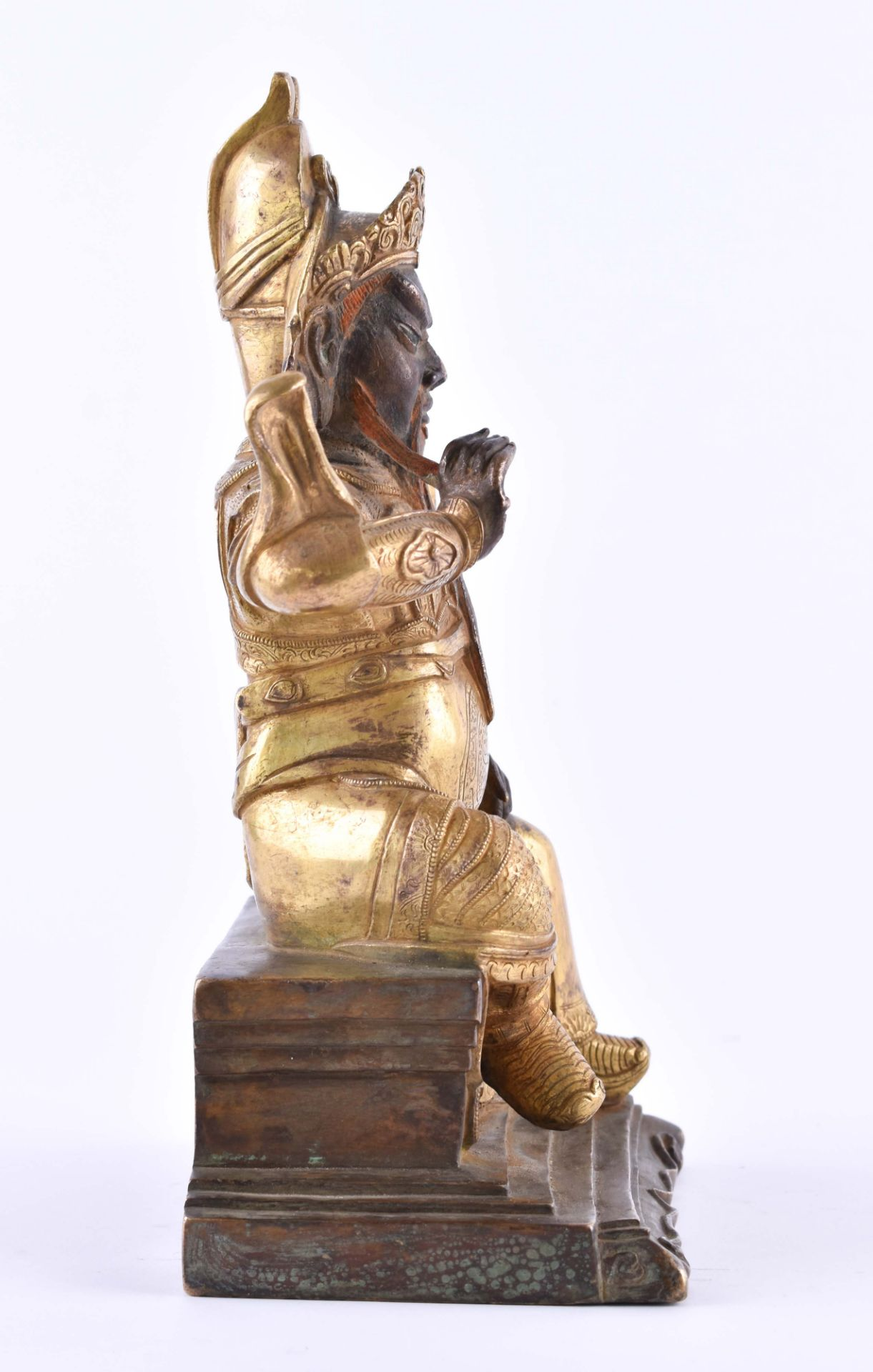 A fine gilt-bronze Figure of GUANDI, China, 19th century - Image 4 of 8
