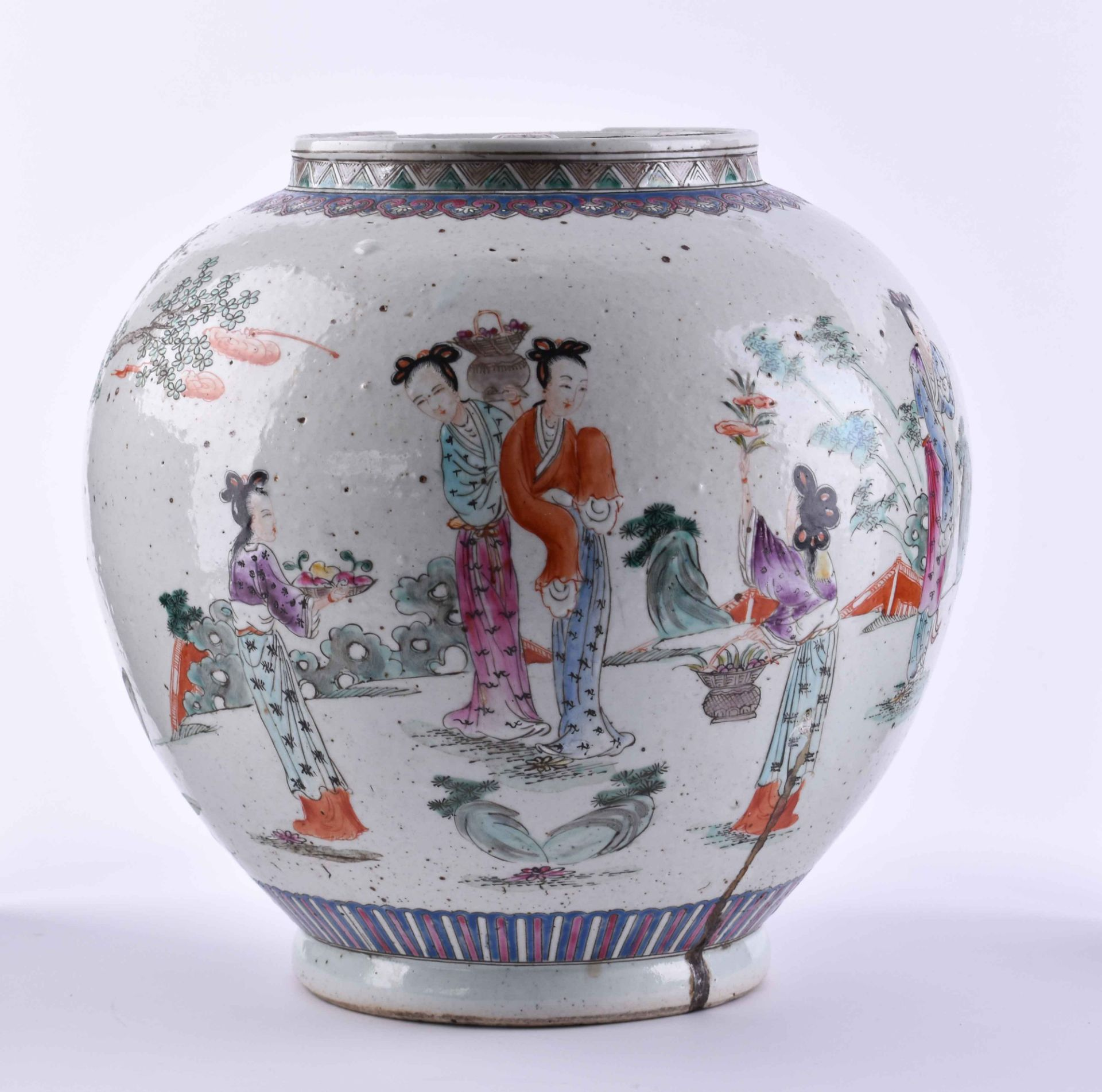 Ginger pot China late Qing period - Image 2 of 7