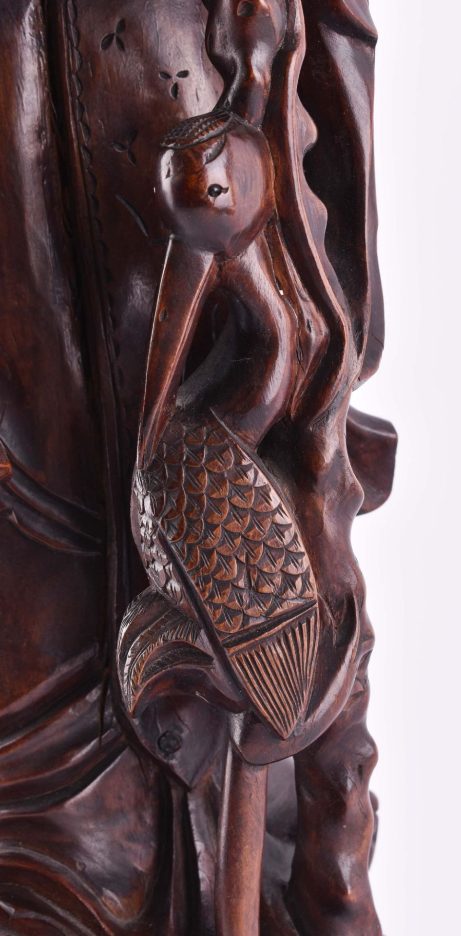 Wooden figure China - Image 5 of 6