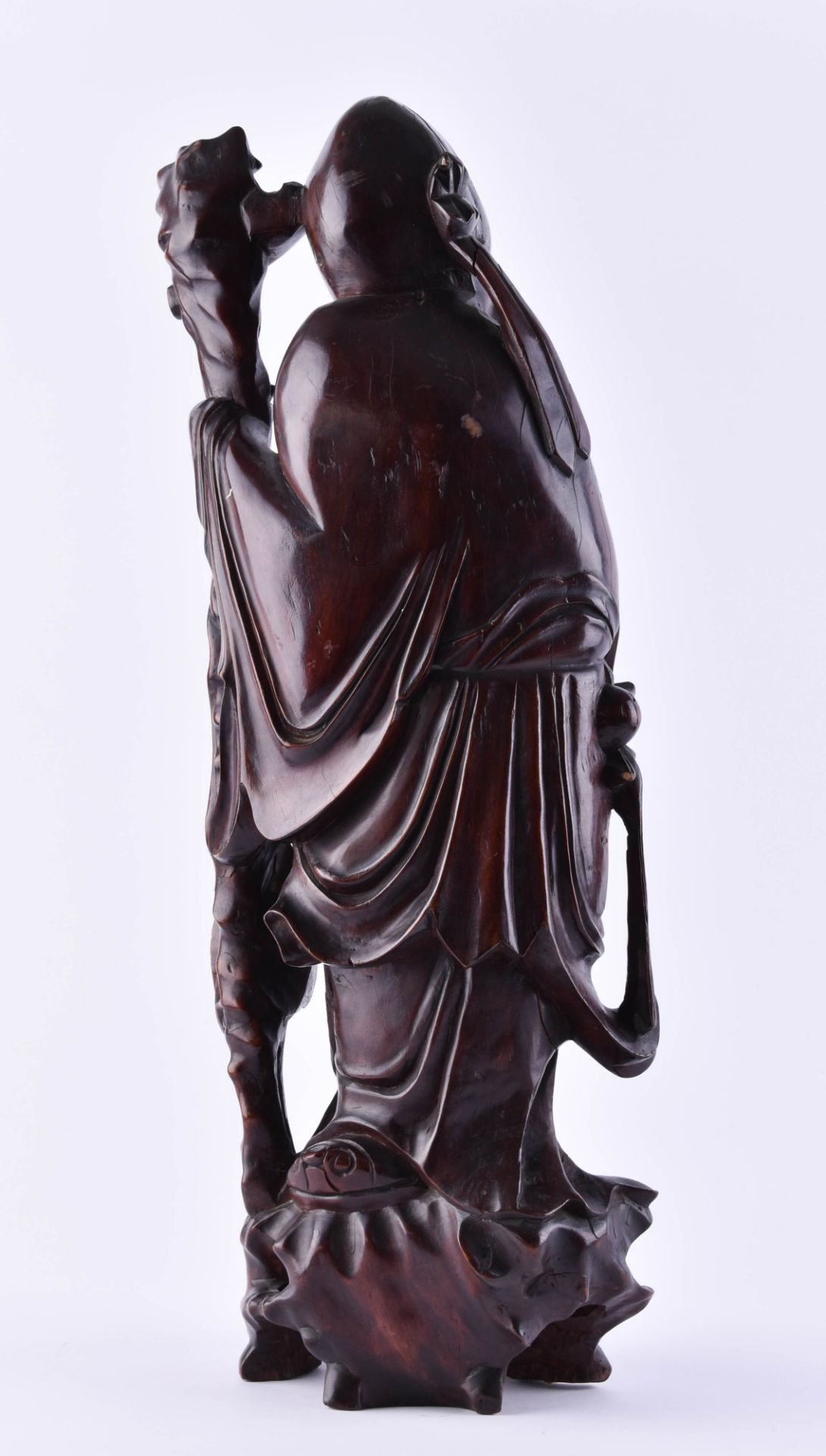 Wooden figure China - Image 3 of 6