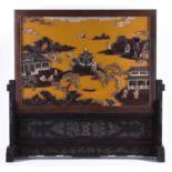 Imposing courtly screen China Qing period, Guangxù?