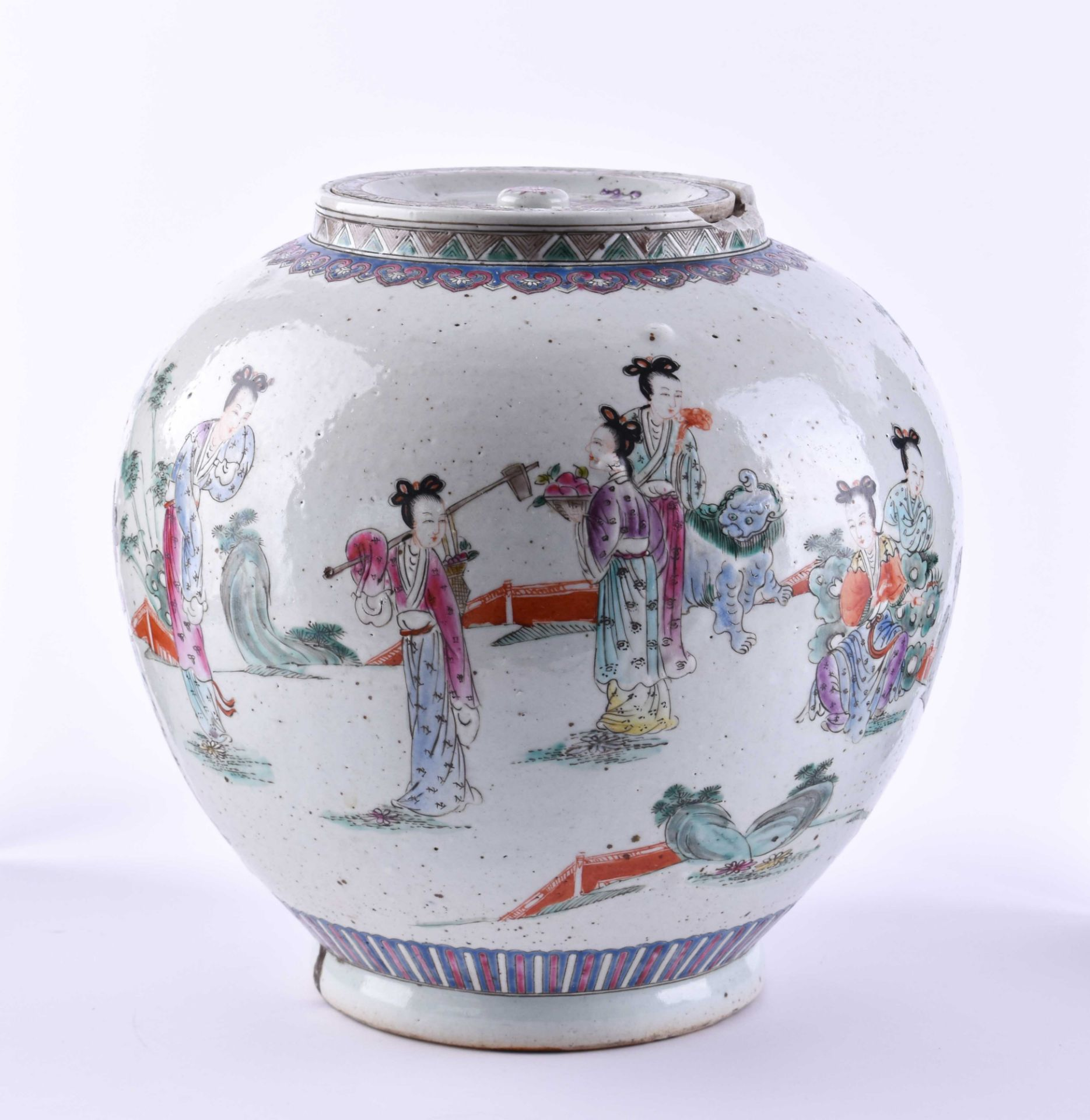 Ginger pot China late Qing period - Image 3 of 7