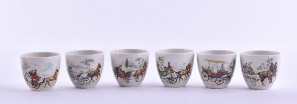 Six mugs KPM Berlin