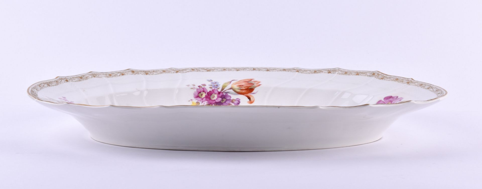 Large meat platter KPM Berlin Rocaille around 1850 - Image 3 of 6