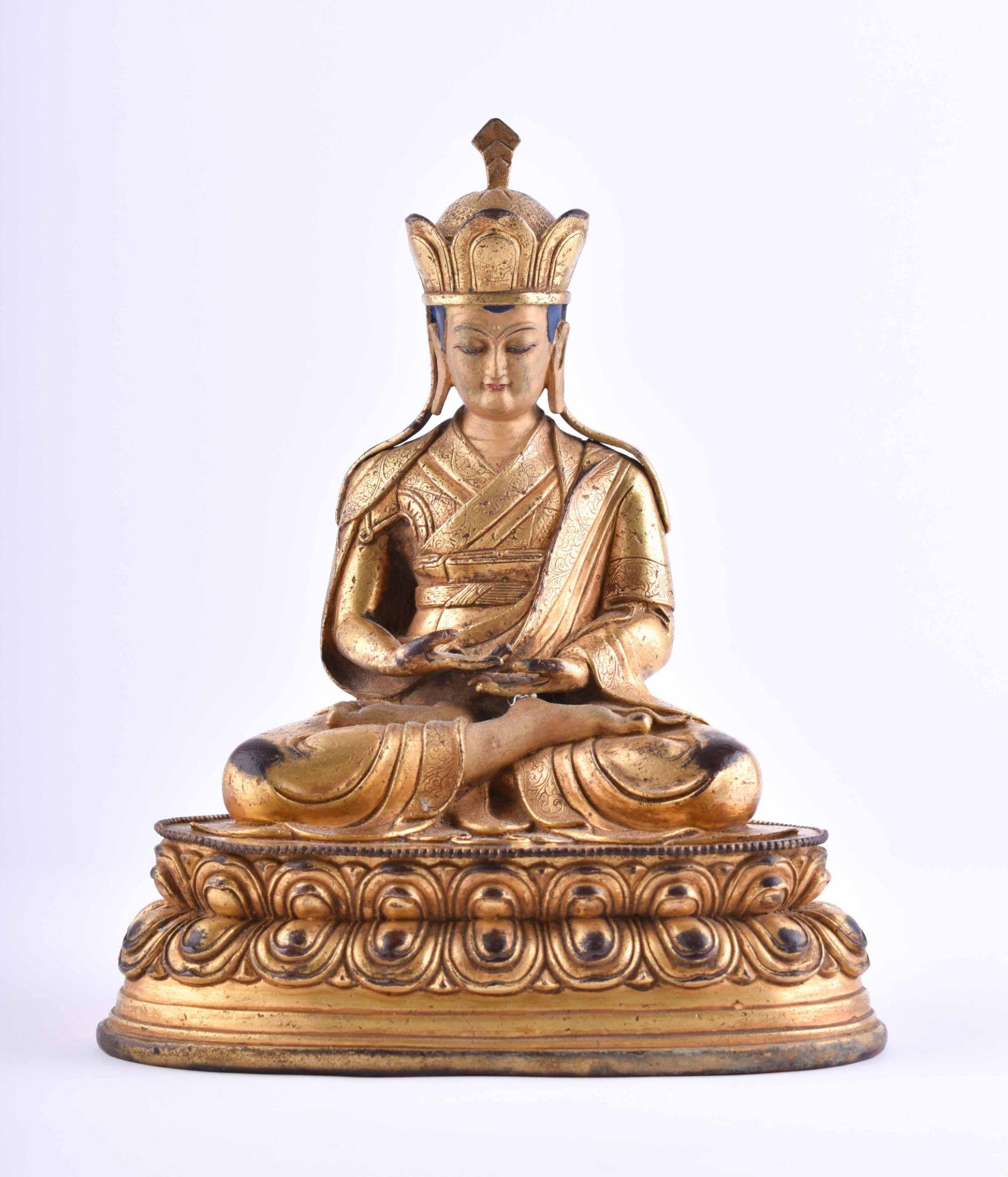 Figure of a Lama, Tibet 18th /19th century