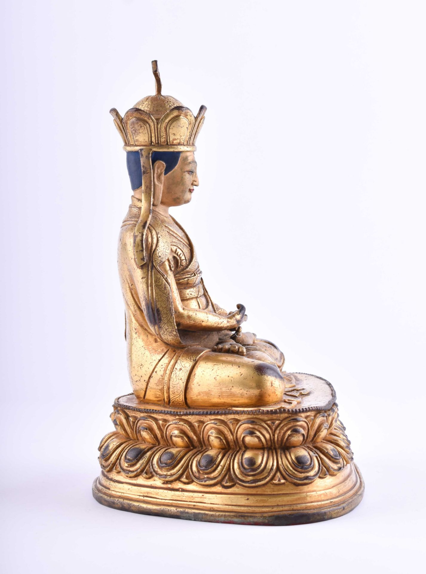 Figure of a Lama, Tibet 18th /19th century - Image 4 of 6