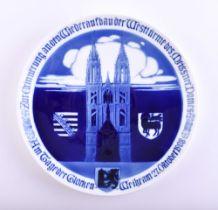 Memorial plate Meissen
