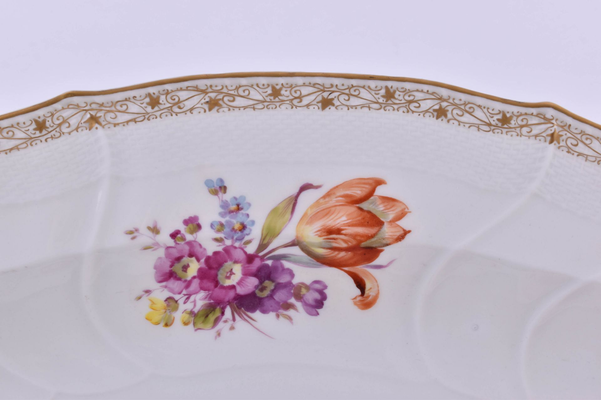 Large meat platter KPM Berlin Rocaille around 1850 - Image 2 of 6