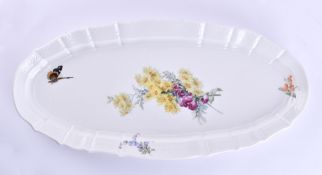 Large pike platter Meissen around 1900