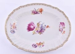 Large meat platter KPM Berlin Rocaille around 1850