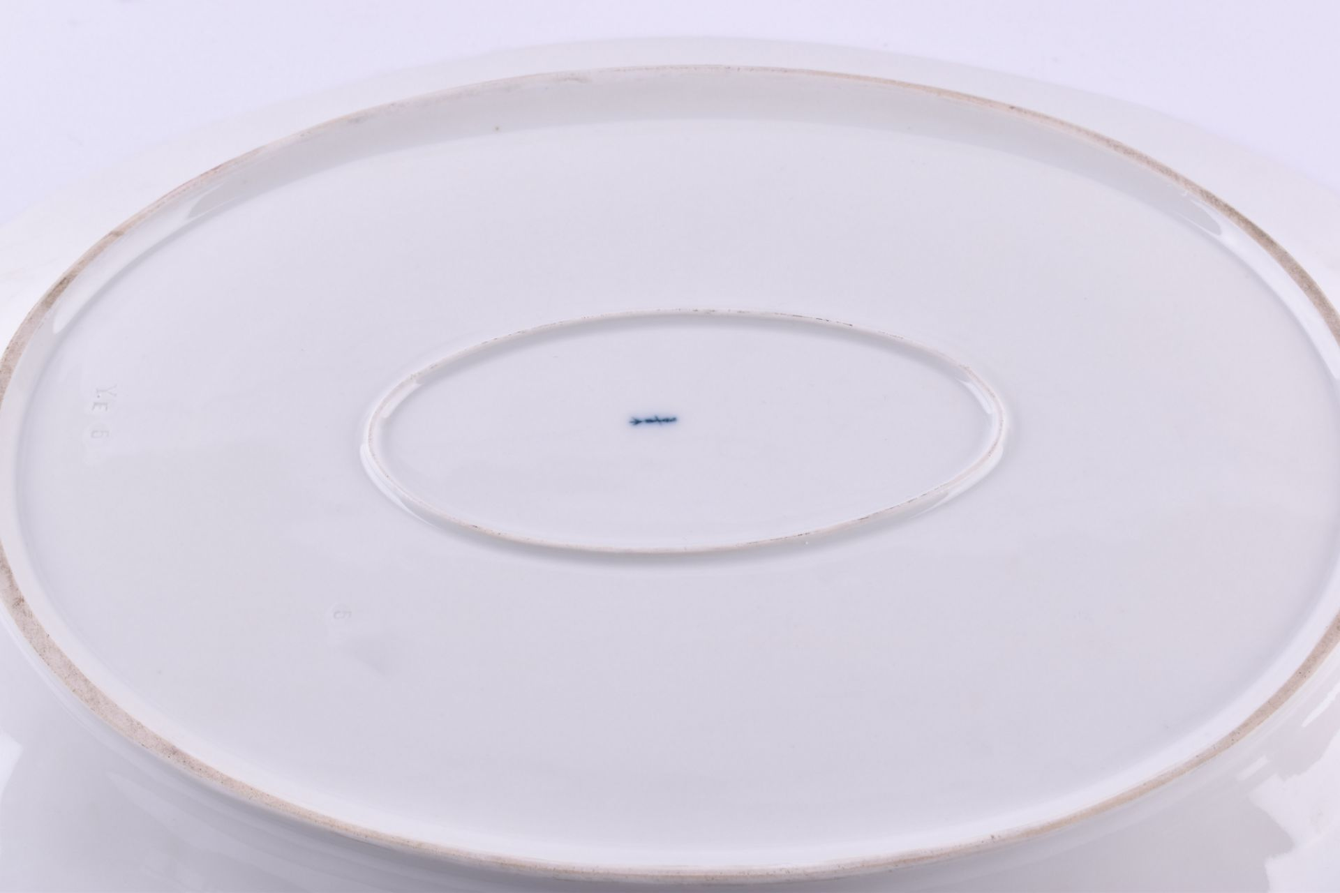 Large meat platter KPM Berlin Rocaille around 1850 - Image 5 of 6