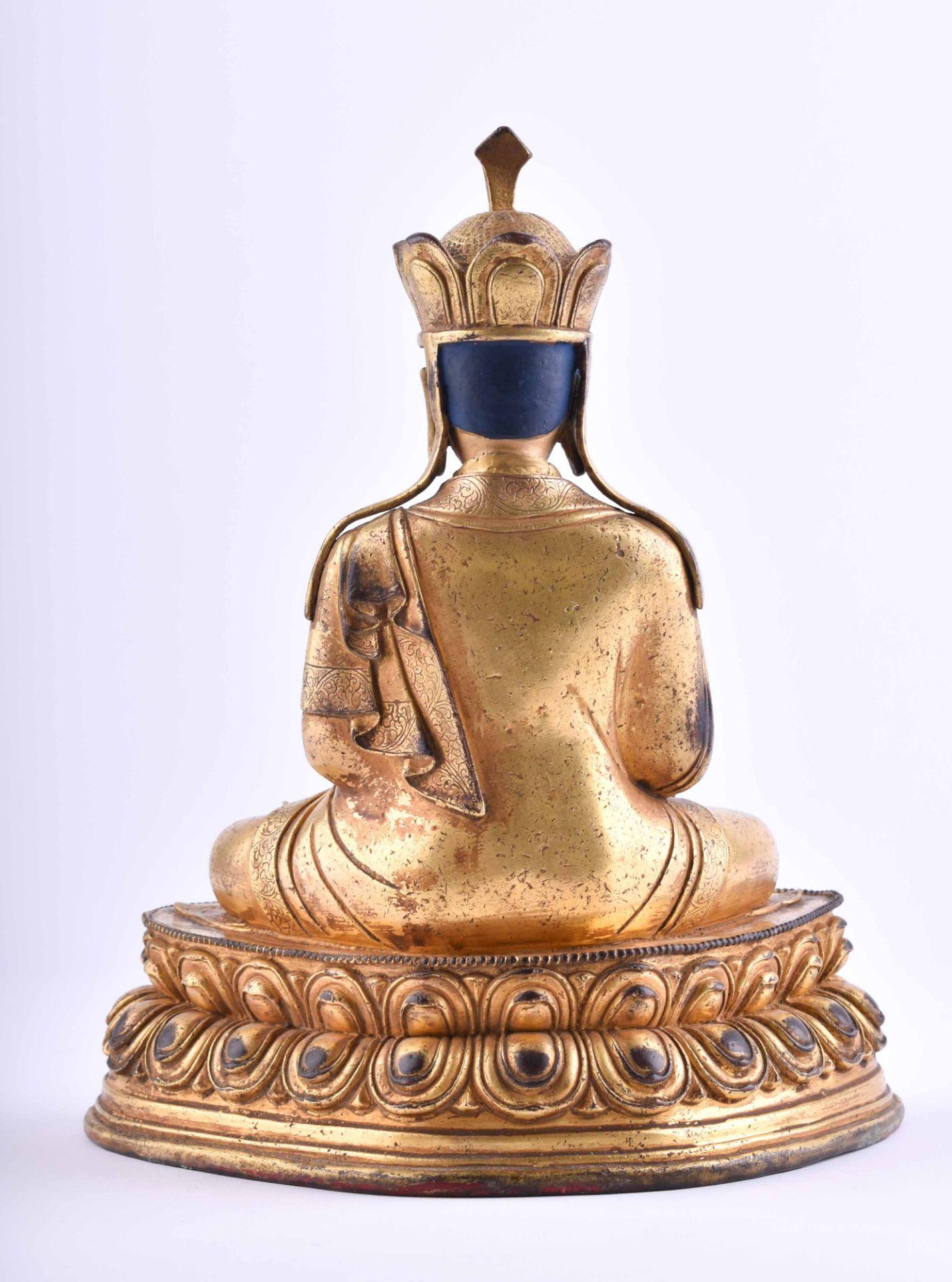 Figure of a Lama, Tibet 18th /19th century - Image 3 of 6