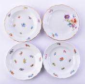 Four plates Meissen