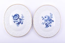 Pair of porcelain picture plates