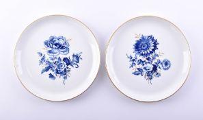 Pair wall plates Meissen