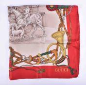 Silk scarf Gucci