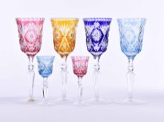 A group of crystal glasses