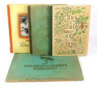 4 Sammelbilder Alben*Aus Deutschlands Vogelwelt* mit zahlr. farbigen im Text montierte