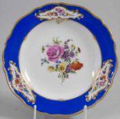 Zierteller / A decorative plate, Meissen, 19. Jh.Material: Porzellan, polychrom bemalt