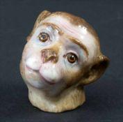Affenkopf / A monkey's head, Meissen, 19. Jh.Material: Porzellan, glasiert und farbig