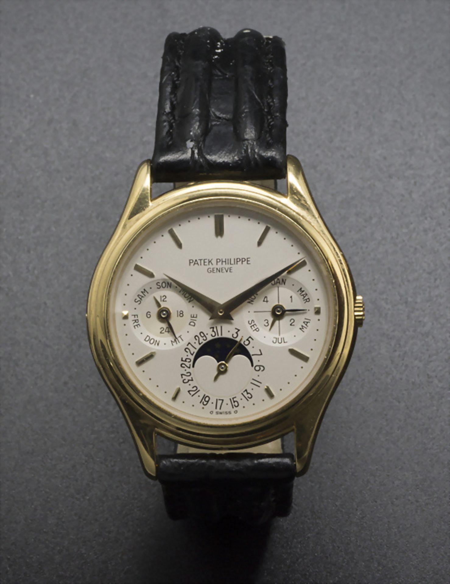 Armbanduhr, Automatik mit ewigem Kalender / A men's automatic wristwatch with perpetual ... - Image 2 of 7