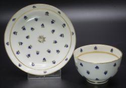 Creamware Koppchen und UT / A creamware tea bowl and saucer, Leeds, Yorkshire, um 1800