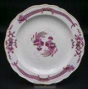 Teller 'Reicher Drache in Purpur' / A plate 'Rich Dragon in purple', Meissen, um 1860