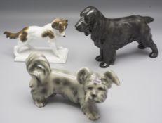 Konvolut 3 Hunde / A collection of 3 dogs, Steffl, Royal Doulton, Karl Ens, 20. Jh.