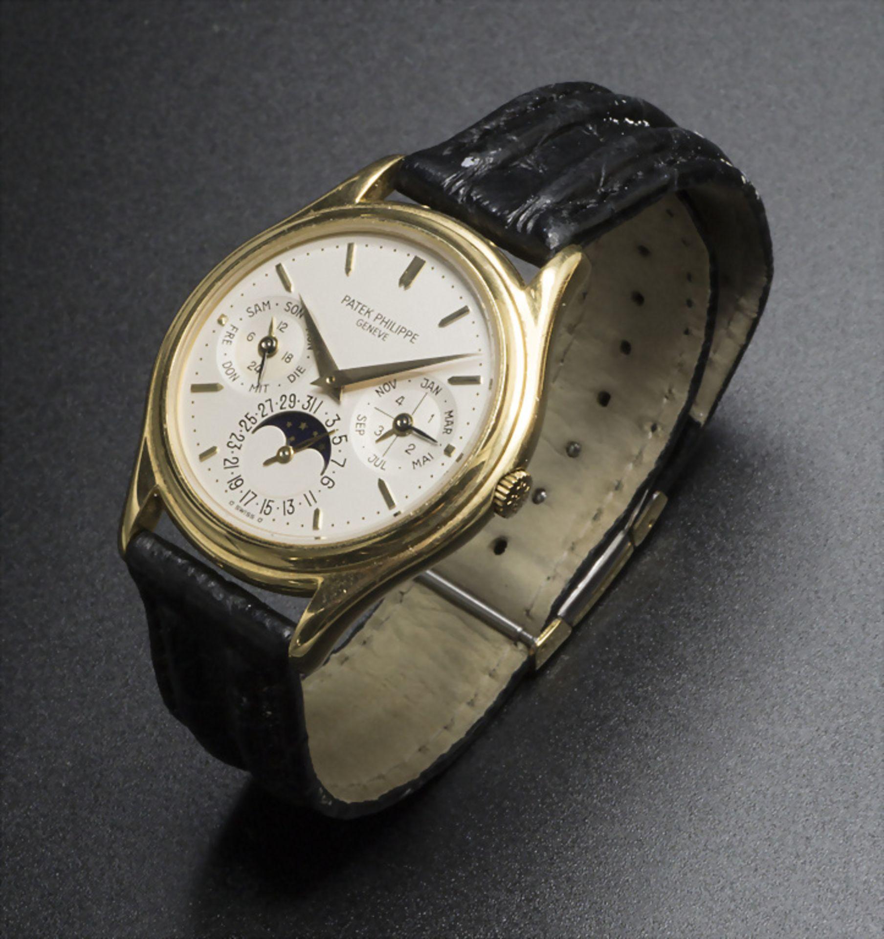 Armbanduhr, Automatik mit ewigem Kalender / A men's automatic wristwatch with perpetual ... - Image 3 of 7