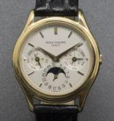 Armbanduhr, Automatik mit ewigem Kalender / A men's automatic wristwatch with perpetual ...